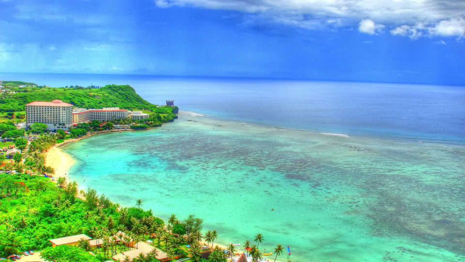 La plage en Guam